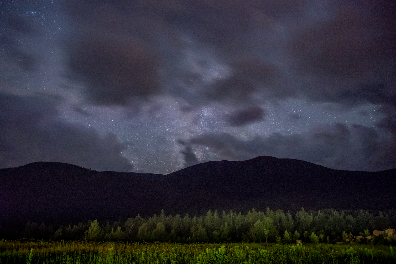 New Hampshire's White Mountains at Night