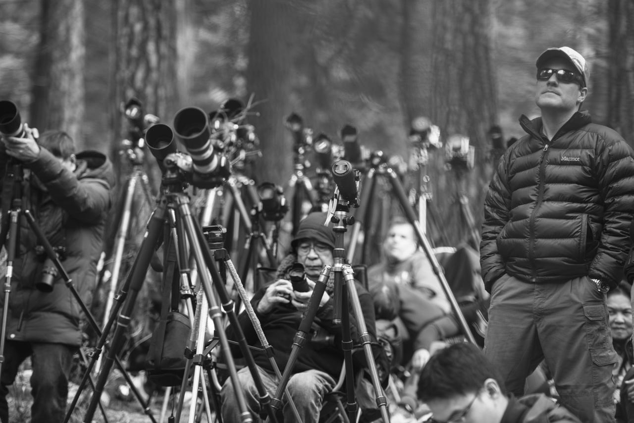 Yosemite Firefall Photgraphers Preparing